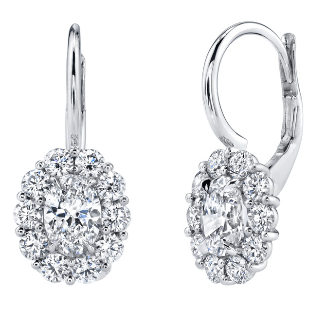KR Diamonds drop earrings
