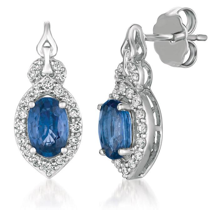 Le Vian Blueberry Sapphire earrings