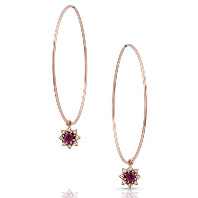 M Spalten Mini Starburst hoop earrings