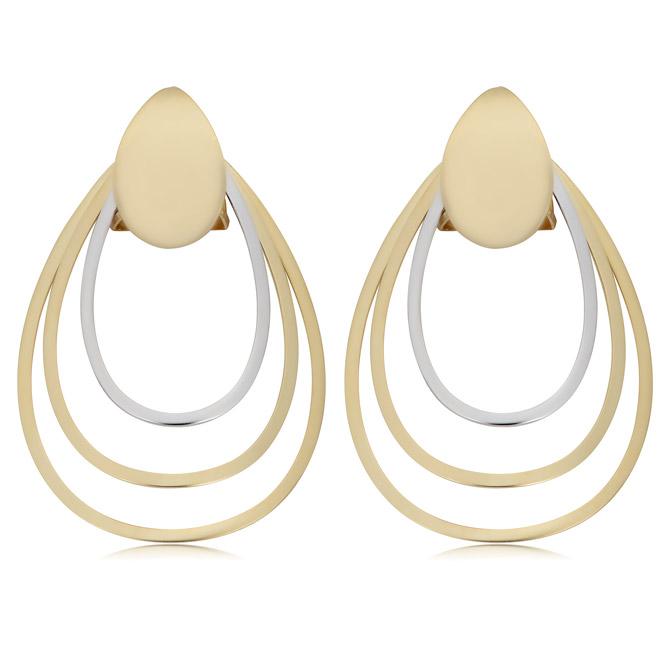 Fremada two-tone earrings