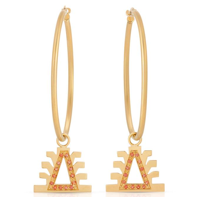 Millapani Lukutuwe hoop earrings