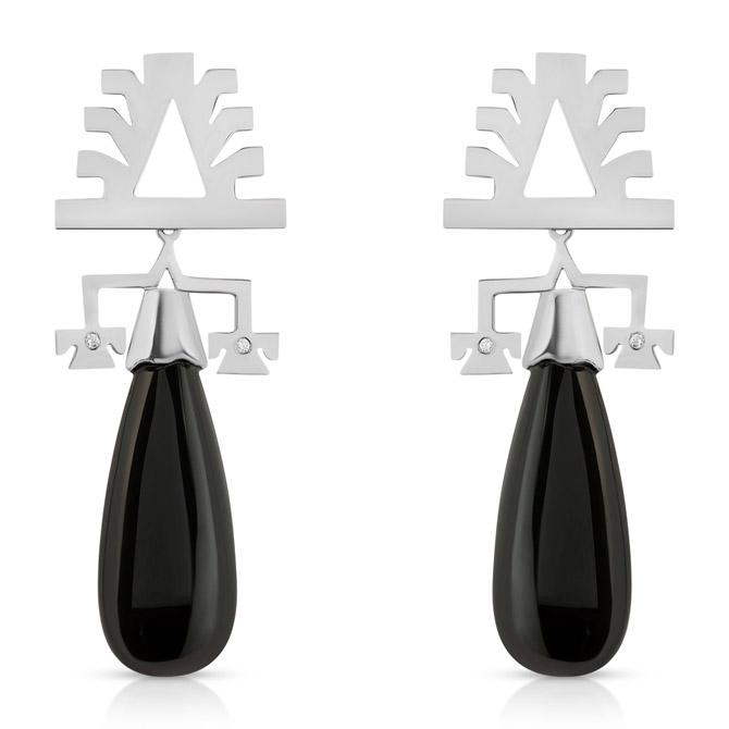 Millapani Lukutuwe onyx earrings