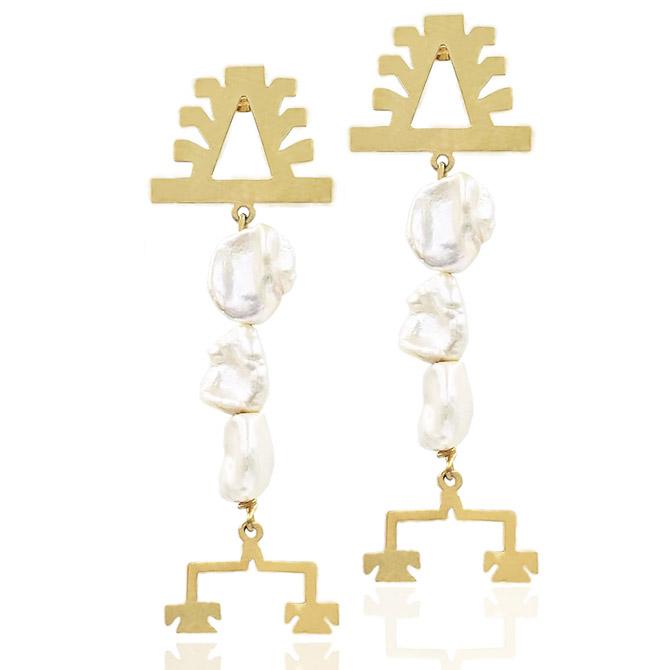 Millapani Lukutuwe pearl earrings