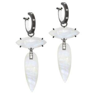 Nina Nguyen moonstone Angel's Wings earrings