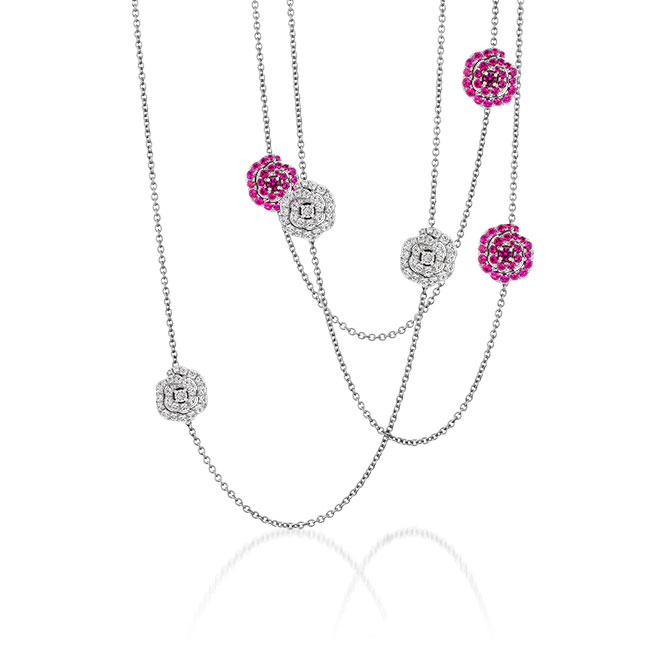 Hearts On Fire station necklace