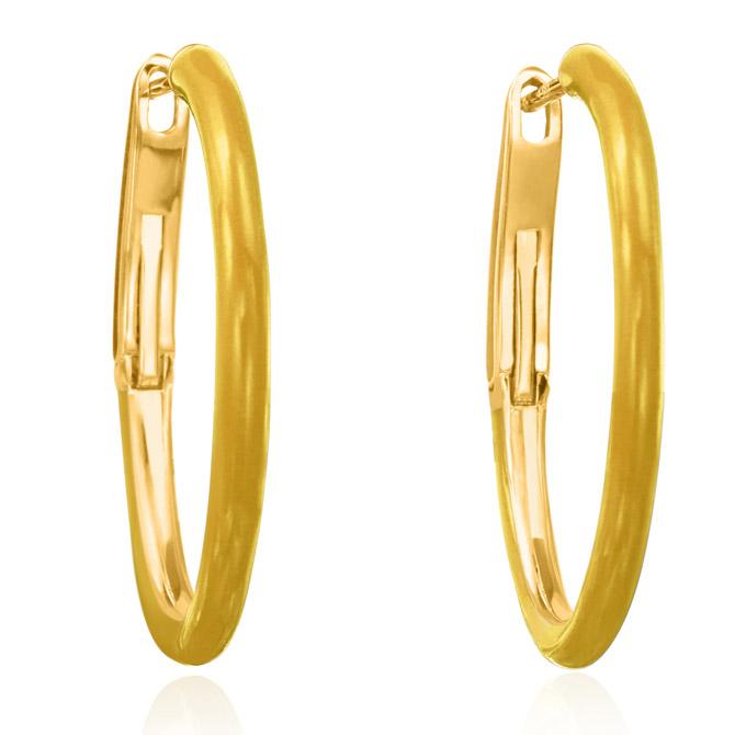 Nina Runsdorf mini enamel hoop earrings