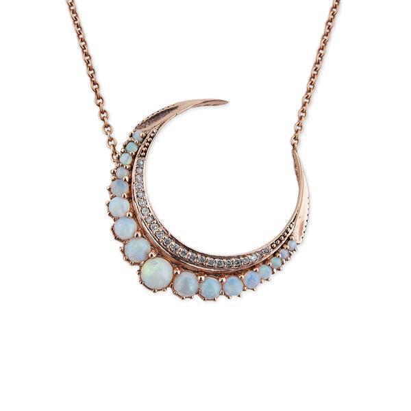 Jacquie Aiche opal moon pendant