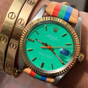 La Californienne Rolex Oyster Perpetual green dial