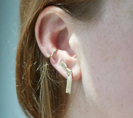 Leith Clark x Catbird Ribbon ear climber