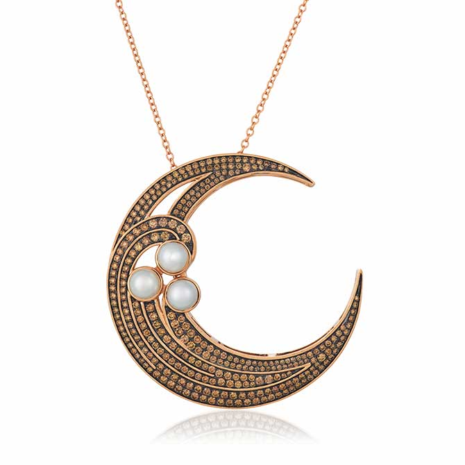 Le Vian chocolate diamond moon pendant