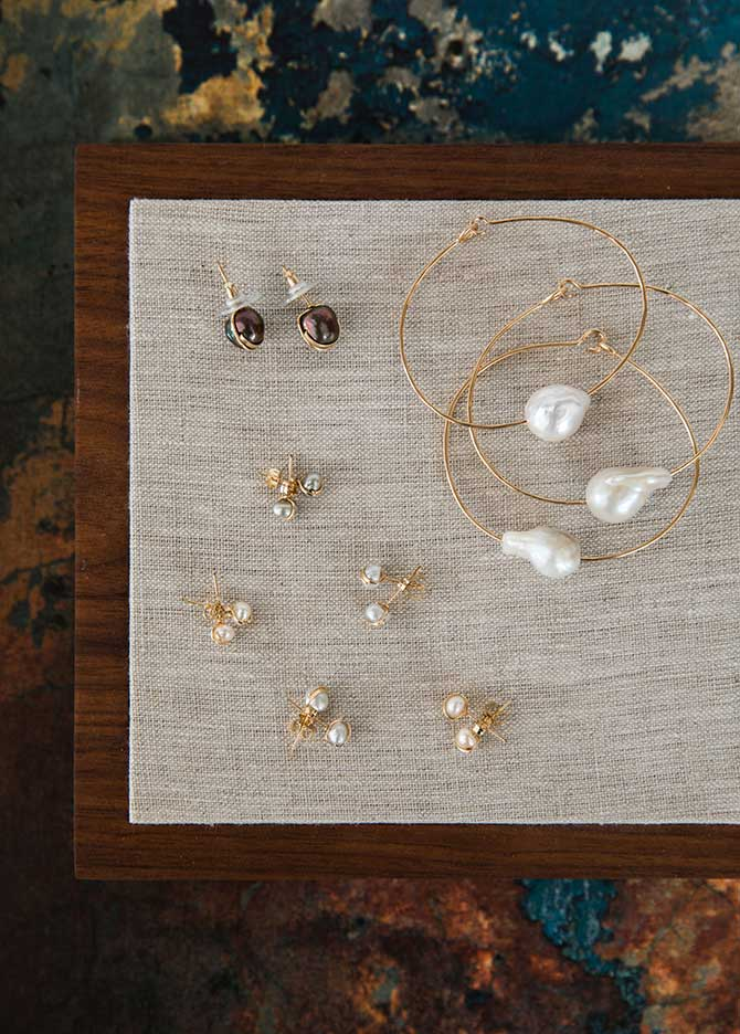 Mary MacGill pearl studs