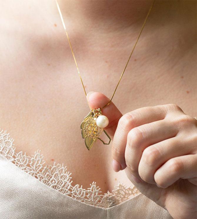 Maya Brenner Sarah Hendler pearl pendant