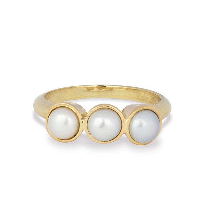 Maya Brenner Sarah Hendler triple pearl ring
