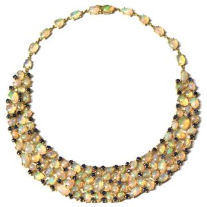 Tresor opal and diamond necklace
