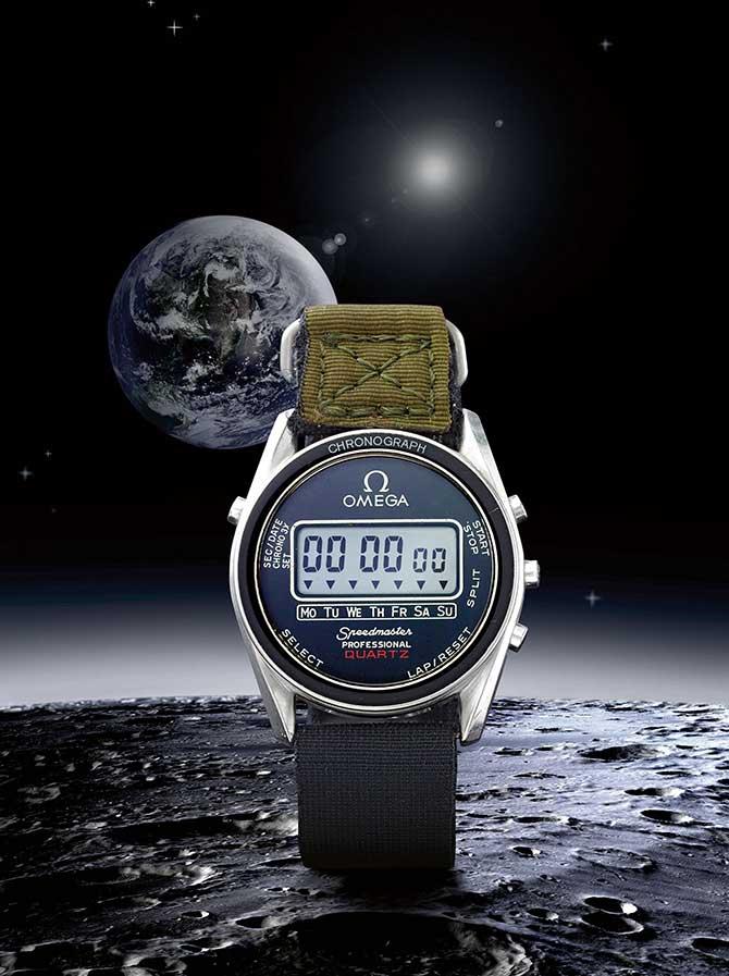 Omega Speedmaster Alaska IV stainless steel quartz digital split chronograph