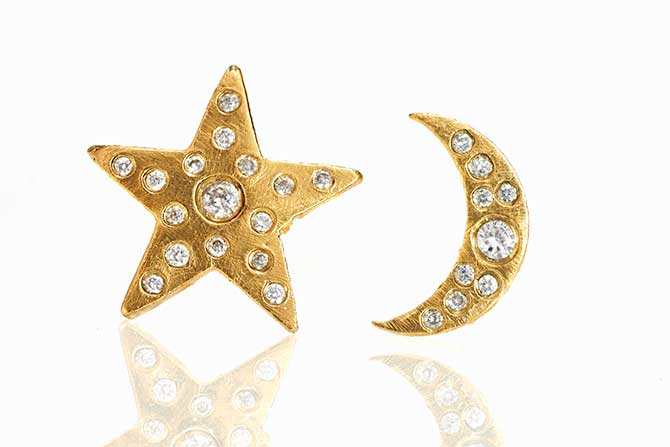 Paris and Lily moon diamond studs