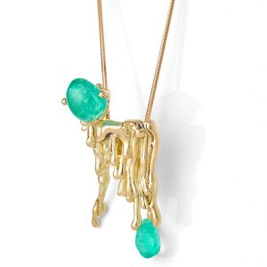 The Rock Hound Candelabra emerald pendant