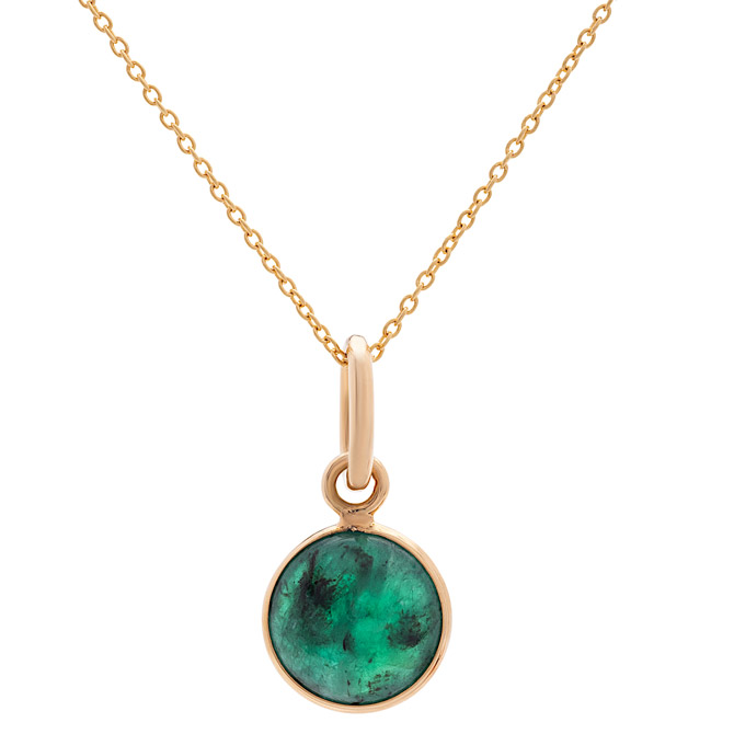Tresor Simple Round emerald pendant