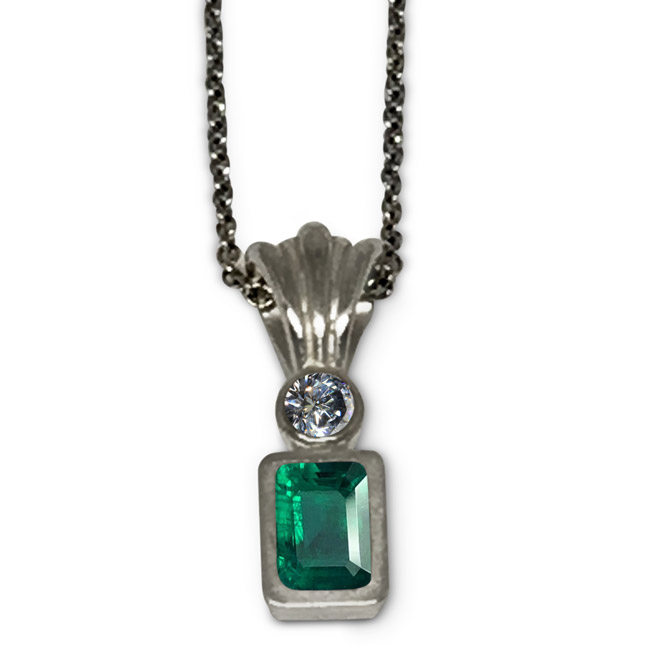 Mia Katrin for Jewel Couture Aria emerald pendant