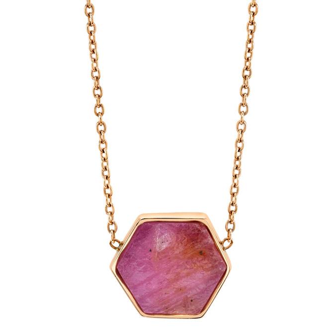 Karma El Khalil ruby slice pendant
