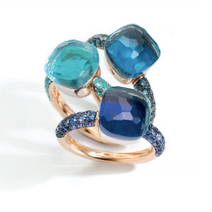 Pomellato Nudo rings deep blue
