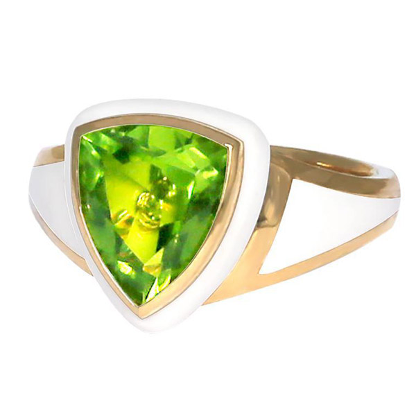Santo by Zani peridot Shield ring