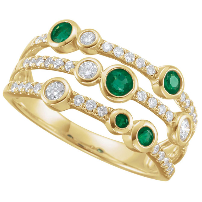Stuller emerald and diamond ring