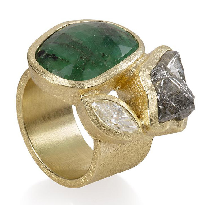 Todd Reed green tourmaline ring