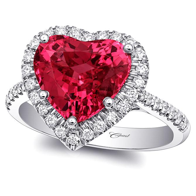 Coast Diamond spinel heart ring