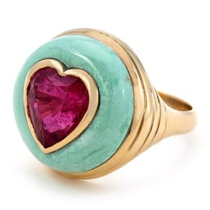 Retrouvai Lollipop heart ring