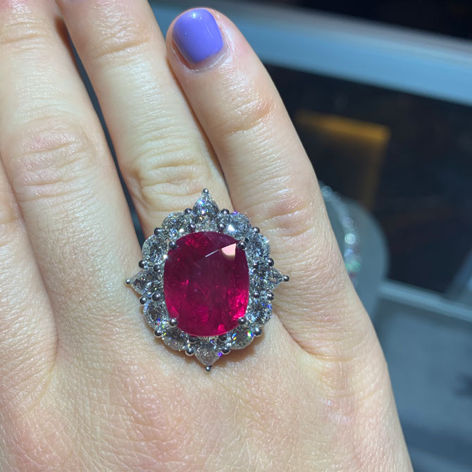 Andreoli platinum ruby ring