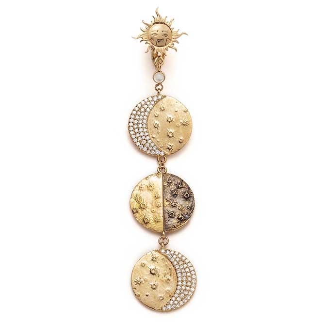 Sofia Zakia Supreme Moon earring