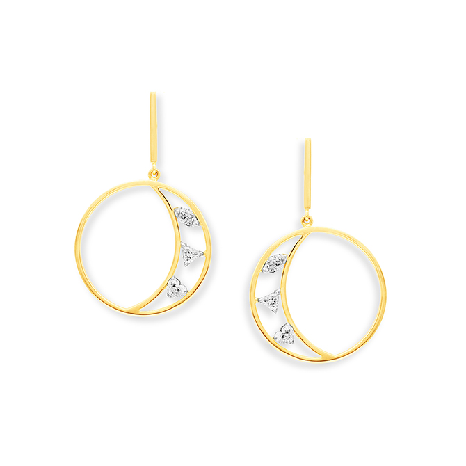 Swati Danak crescent earrings