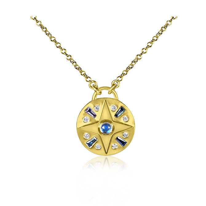 Theresa Kaz compass necklace
