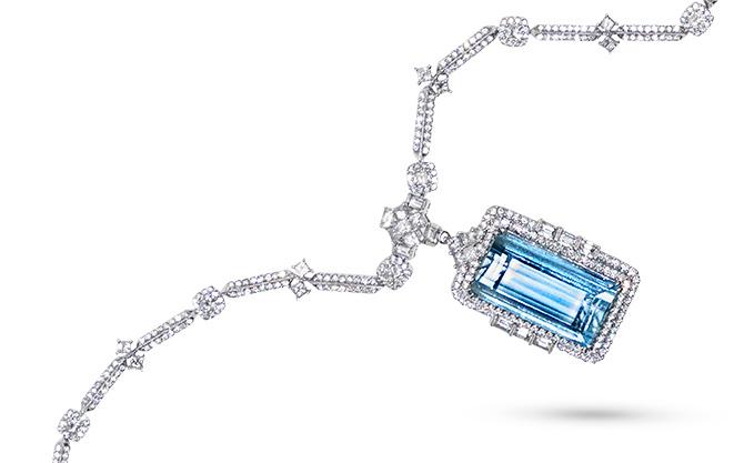 Ashi aquamarine pendant