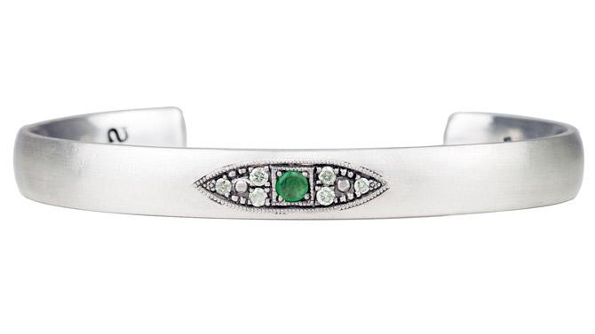 Suneera925 evil eye emerald bracelet