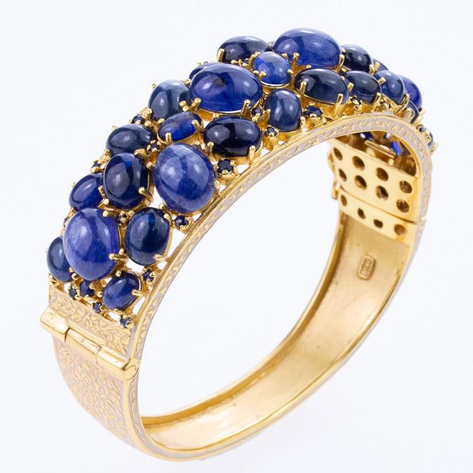 Hatai Jewelry sapphire bangles