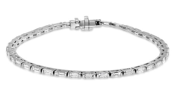 Eriness diamond baguette tennis bracelet