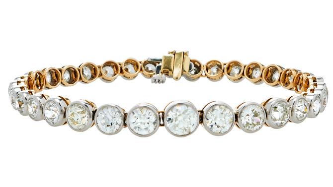 Mindi Mond old Euro cut tennis bracelet