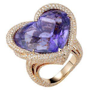 Chopard purple tourmaline temptations ring