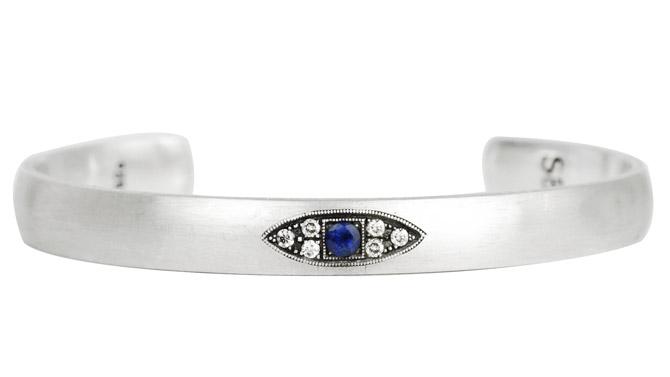 925Suneera evil eye cuff bracelet