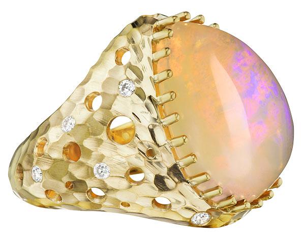 Dana Bronfman desert glow opal ring