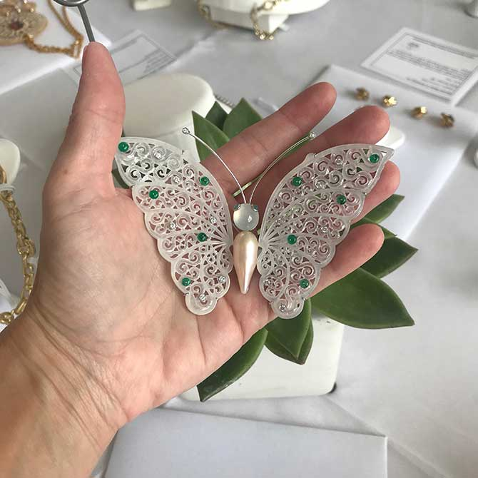 Designs by Evy butterfly brooch