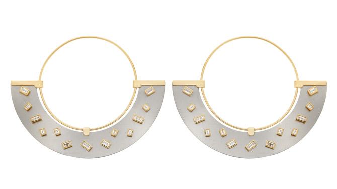 Ileana Makri Baguette Sprinkles earrings