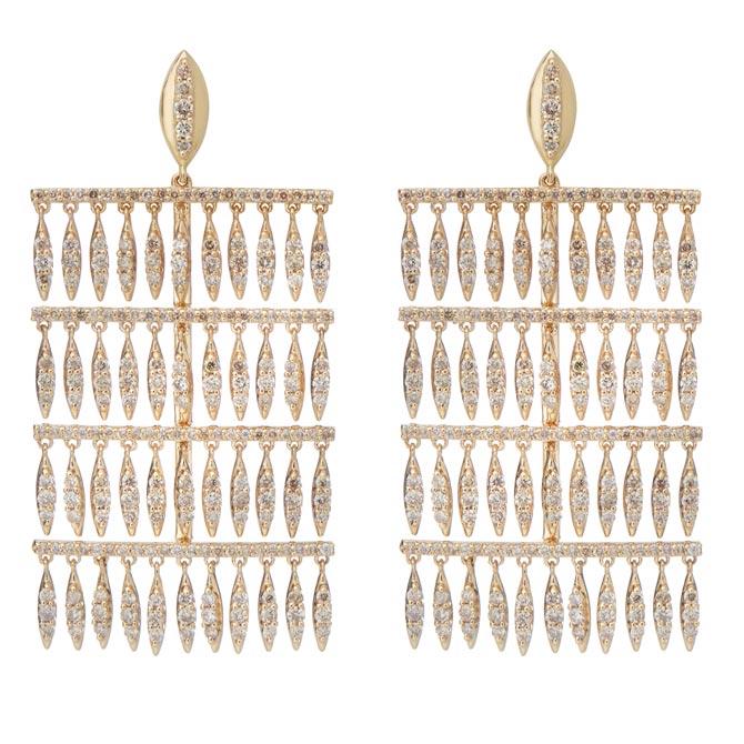 Ileana Makri Grass Raining earrings