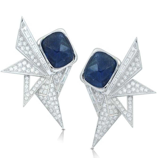 Kavant Sharart sapphire and diamond earrings