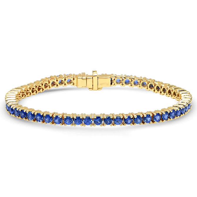 Eriness blue sapphire tennis bracelet