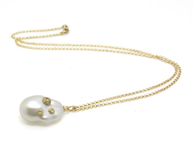 Hannah Blount Gossamer baroque pearl necklace