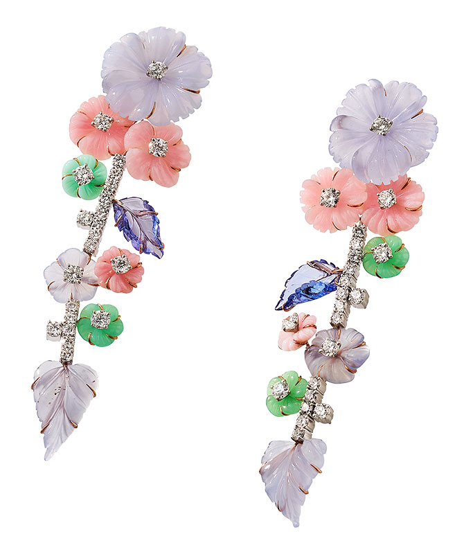 Irene Neuwirth wildflower carved earrings