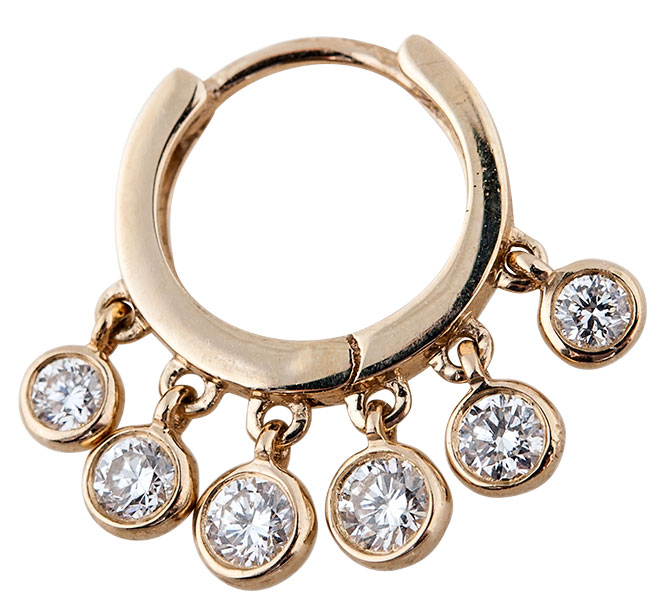Jacquie Aiche diamond mini shaker hoop